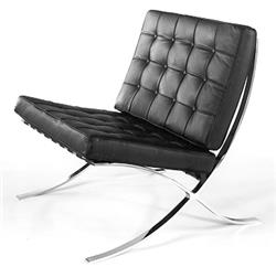 pavilion chair based on designs of mies van der rohe barcelona 1929