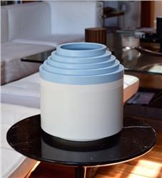 vase celeste white by ettore sottsass IN STOCK