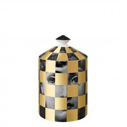 FORNASETTI SCACCO gold SCENTED CANDLE