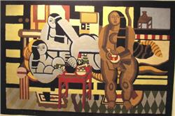 3 women rug designed by Fernand Leger