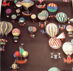 Hot air balloons black
