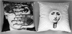 Fornasetti Pillow cushion TV L' ABBAGLIO IN STOCK free shipping