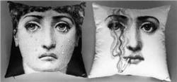 Fornasetti Pillow cushion TV IL FUMO FA MALE IN STOCK free shipping