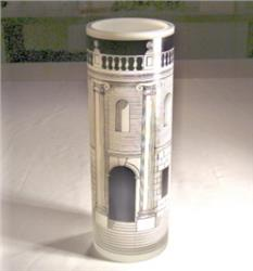 glass vase house with columns