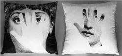 Fornasetti Pillow cushion TV LA MANO IN STOCK free shipping