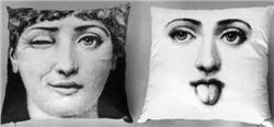 Fornasetti Pillow cushion TV L' ANTIPATICO IN STOCK free shipping
