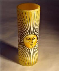 glass vase yellow sun