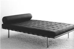 DAY BED, 1930. Based on the designs of Mies van der Rohe
