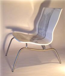 tete a tete chair white  SOLD