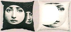 Fornasetti Pillow cushion TV ECLISSI DI LUNA IN STOCK free shipping