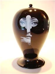 fornasetti vase lock & key BLACK SOLD