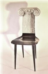 fornasetti chair capitello ionico black white