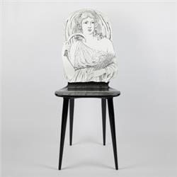fornasetti chair estate black and white