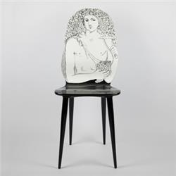 fornasetti chair autunno black and white