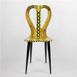 fornasetti chair musicale yellow tones