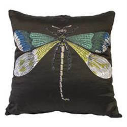 Fornasetti Pillow cushion LIBELLULA/MALACHITE in STOCK