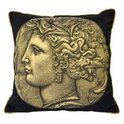 Fornasetti Pillow cushion NUMMUS FEMALE/MARMO gold in STOCK