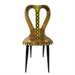 fornasetti chair musicale brown tones
