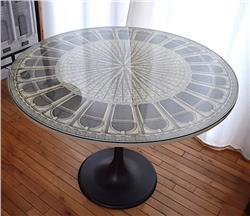 vintage FORNASETTI table Architettura b/w SOLD