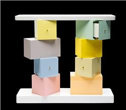 Ettore Sottsass Console Cubica personal Author's Proof in STOCK