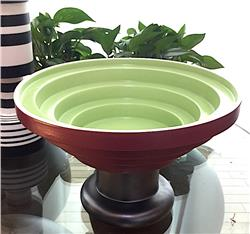 bowl vase green red by ettore sottsass IN STOCK