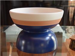 centerpiece bowl blue beige by ettore sottsass