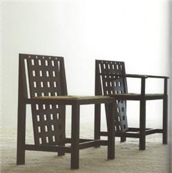Side chair designed by Charles Rennie Mackintosh